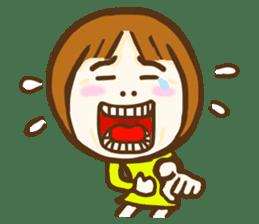 Jocular girl sticker #6005674