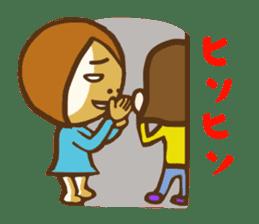 Jocular girl sticker #6005675