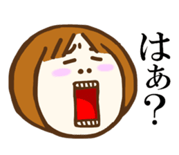Jocular girl sticker #6005680