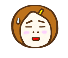 Jocular girl sticker #6005692