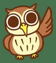 Owl having round eyes sticker #6008664