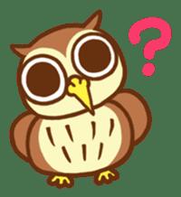 Owl having round eyes sticker #6008665