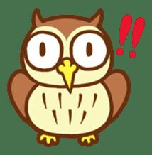 Owl having round eyes sticker #6008667