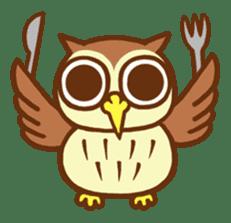 Owl having round eyes sticker #6008670