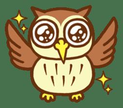 Owl having round eyes sticker #6008671