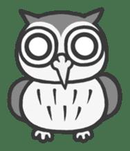 Owl having round eyes sticker #6008672