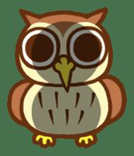 Owl having round eyes sticker #6008673