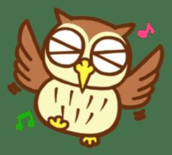 Owl having round eyes sticker #6008675