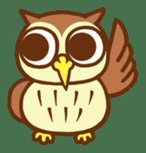 Owl having round eyes sticker #6008676