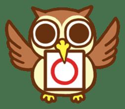 Owl having round eyes sticker #6008679
