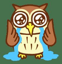 Owl having round eyes sticker #6008681