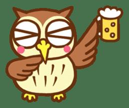 Owl having round eyes sticker #6008683