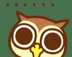 Owl having round eyes sticker #6008684