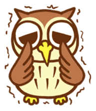 Owl having round eyes sticker #6008687