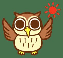 Owl having round eyes sticker #6008688