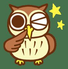 Owl having round eyes sticker #6008691