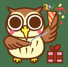 Owl having round eyes sticker #6008694