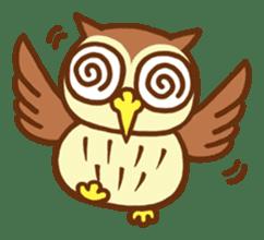 Owl having round eyes sticker #6008695