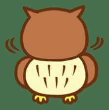 Owl having round eyes sticker #6008696