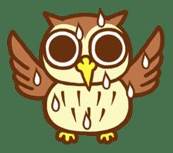 Owl having round eyes sticker #6008698