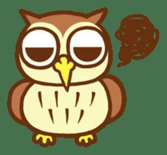 Owl having round eyes sticker #6008699