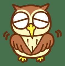 Owl having round eyes sticker #6008700