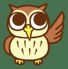 Owl having round eyes sticker #6008701