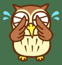 Owl having round eyes sticker #6008702