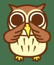 Owl having round eyes sticker #6008703