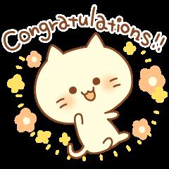 Congratulation cats sticker