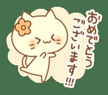 Congratulation cats sticker sticker #6009384