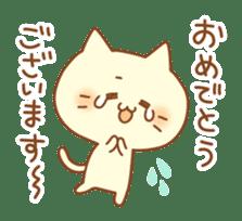 Congratulation cats sticker sticker #6009389