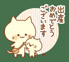Congratulation cats sticker sticker #6009404