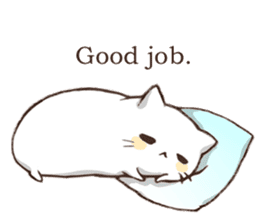 Pillow & Cat (en) sticker #6010387