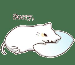 Pillow & Cat (en) sticker #6010389