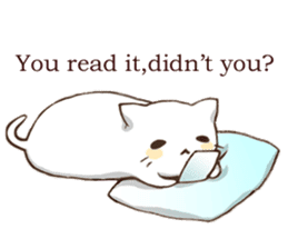 Pillow & Cat (en) sticker #6010396