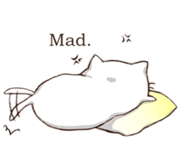 Pillow & Cat (en) sticker #6010399