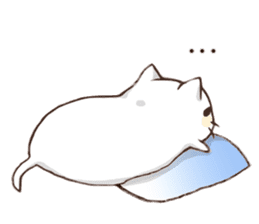 Pillow & Cat (en) sticker #6010402
