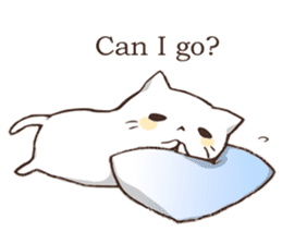 Pillow & Cat (en) sticker #6010412