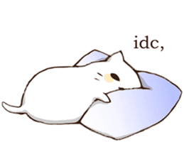 Pillow & Cat (en) sticker #6010415