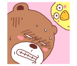 Diaper Bear Love You sticker #6019346