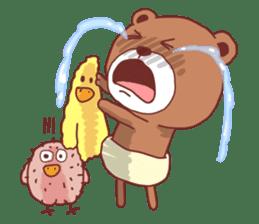 Diaper Bear Love You sticker #6019350