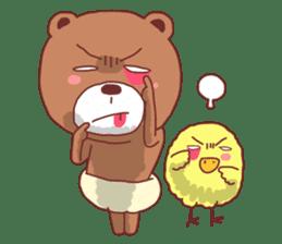 Diaper Bear Love You sticker #6019351
