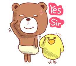 Diaper Bear Love You sticker #6019353