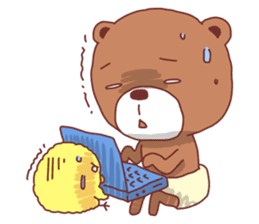 Diaper Bear Love You sticker #6019355