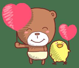 Diaper Bear Love You sticker #6019357