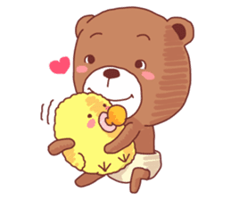 Diaper Bear Love You sticker #6019358