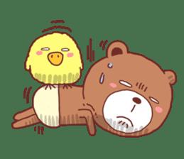 Diaper Bear Love You sticker #6019359