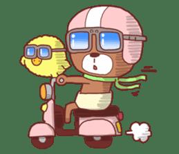 Diaper Bear Love You sticker #6019360