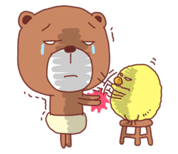 Diaper Bear Love You sticker #6019361